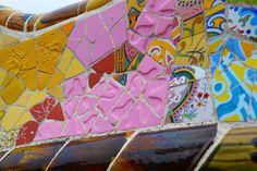 Bench Park Guell, Barcelona, Spain