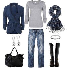 navy and grey -- winter comfort