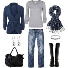 Blue, Gray & Black