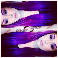 Love the multi tones in this purple hair Hair Color Blue, Purple Hair, Hair Colors, Violet Hair, Coloured Hair, Mermaid Hair, Crazy Hair, Pretty Hairstyles, Dyed Hair