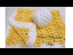 Marixa González shared a video Plaid Crochet, Crochet Baby, Free Crochet, Knit Crochet, Crochet Bedspread, Crochet Doilies, Crochet Stitches, Crochet Butterfly, Rainbow Crochet