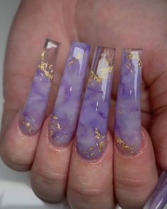 Nail art Christmas - the festive spirit on the nails. Over 70 creative ideas and tutorials - My Nails Purple Acrylic Nails, Best Acrylic Nails, Purple Nails, Acrylic Nail Designs, Dope Nail Designs, Purple Nail Designs, Square Acrylic Nails, Creative Nail Designs, Creative Nails