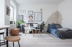 Scandinavian studio apartment on Södermalm, Stockholm | Bjurfors | Interior