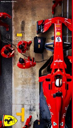 2018/3/30:Twitter: @ScuderiaFerrari :  Getting ready for the next race. #BahrainGP #ForzaFerrari #F1 #F12018 #FormulaOne #フェラーリ #フェラーリF1 #SF71H #Ferrari #FerrariF1  #ScuderiaFerrari #SV5 #Seb5 #Vettel #Raikkonen #sebvettel #SebastianVettel #Kimi7 #Kimi7iceman