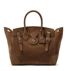 Ralph Lauren Ricky bag in Taupe suede 68d03038b8606
