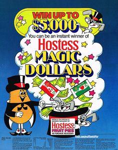 Hostess Fruit Pies Sign - Magic Dollars - 1981