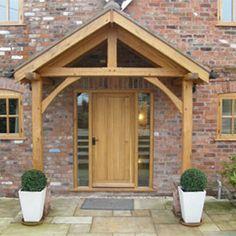 Front Door Canopy Designs   Enter here for standard Oak Porches