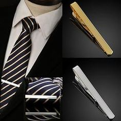 Ackeetree Fashion | Men's Silver  Necktie Tie Bar Clasp