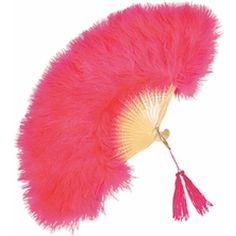 Pink Feathered Fan