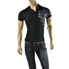 Armani Exchange Polo Shirt Mens A|X Logo Slubby Size XS Slim Fit T Shirts Top #AXArmaniExchange #PoloRugby  | Get Dressed at http://ImageStudio714.com http://stores.ebay.com/ImageStudio714