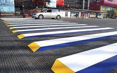 Pedestrian Crossing Street Art Combo ~ designcombo