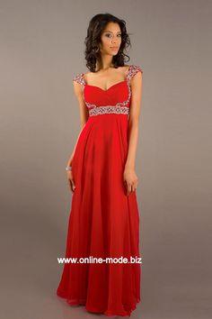 Damen Kleid Abendkleid in Rot