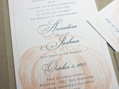 Fall Wedding Invitation Traditional Custom by essentialimages, $4.90