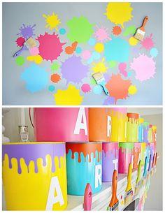 Ariella\'s 3rd Birthday: An Art Party - Project Nursery