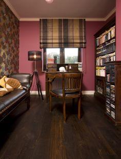 fuchsia study room of colonial furniture, monkeys' wallpaper, cole and son wallpaper, cole and son Fornasetti frutto proibito wallpaper