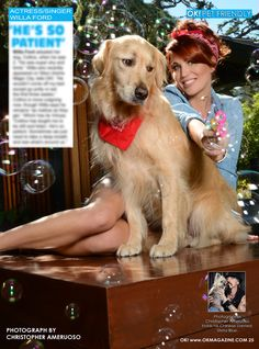 This week in my OK! Pets page in OK! magazine we feature Willa Ford and her rescue Collins. What a fun shot. Pick up a copy on stands.