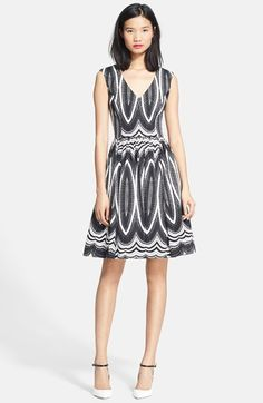 Tracy Reese 'Dolce Vita' Stretch Twill Fit & Flare Dress available at #Nordstrom