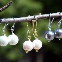 These delicate pearl drop earrings remind me so much of the ones in the movie Pretty Woman that Julia Roberts is wearing when she returns to the hotel from a day of shopping.