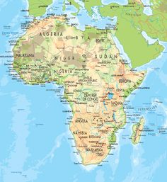 Africa Map Countries And Capitals | Map Of Africa Countries And Capitals