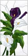 Stained Glass Cabinet Door Pattern Lilies
