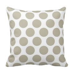 Burlap Beige Polkadot Throw Pillows  Save 15% on all pillow orders! LAST DAY Use Code: ZAZTAXSAVING