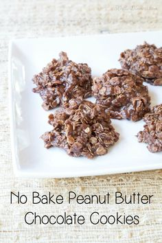 No Bake Peanut Butter Chocolate Cookies Recipe on 5DollarDinners.com