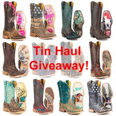 Win your choice of Tin Haul Boots in May. (up to $325 in value) We Love our Fans!