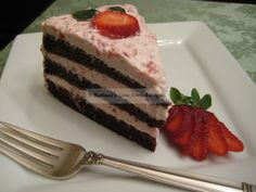 Strawberry Chocolate Torte Shared on https://www.facebook.com/LowCarbZen