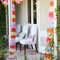 Garten Terrasse Wohnideen Möbel Dekoration Decoration Living Idea Interiors home garden - Garten Girlanden