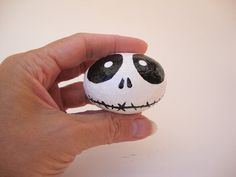 Ghoul Face Hand Painted Rock Art #Halloween
