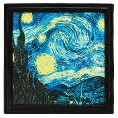 Unsere traditionellen Gallery Rahmen nehmen in unserer Kollektion bemahlter Glassrahmen mit Vincent Van Goghs beliebtem Gemälde Starry Night elegante Form an.