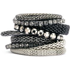 H&M 9-pack bracelets ($22) ❤ liked on Polyvore featuring jewelry, bracelets, accessories, dark grey, h&m jewelry, plastic jewelry, h&m and plastic bangles