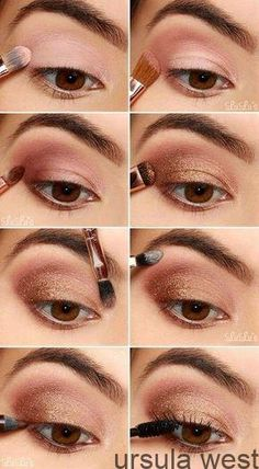 Eyeshadow, Eye Makeup Inspiration, Augen Make-Up Tried And Tested Skin Care Tips Eye Makeup Tips, Makeup Hacks, Makeup Inspo, Makeup Ideas, Easy Eye Makeup, Tan Skin Makeup, Bronze Eye Makeup, Eyeliner Ideas, Hair Makeup