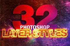32 Photoshop Layer Styles by SeraphimChris on @creativemarket