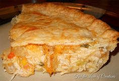 Chicken Pot Pie – cooked mostly in the crockpot then finish off in the oven