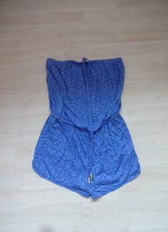 Kaufe meinen Artikel bei #Kleiderkreisel http://www.kleiderkreisel.de/damenmode/sonstiges/143324209-wunderschoner-jumpsuit-blau-muster-paisley-porzelan-mit-goldenen-details-36-sexy-short-tragerlos