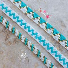 Bead Embroidery Patterns, Seed Bead Patterns, Beaded Jewelry Patterns, Loom Patterns, Beaded Embroidery, Beading Patterns, Loom Bracelet Patterns, Bead Loom Bracelets, Rakhi Design