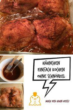 Ein einfaches Rezept für Hähnchen: http://usabilligabergutleben.blogspot.com/2015/03/einfaches-haehnchen.html .