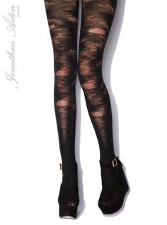 These Rebel Tights from Jonathan Aston have patches that look like they have been worn away $21.75