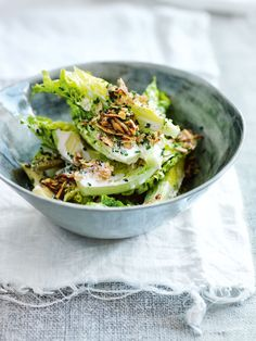 caesar salad with oat croutons, donna hay magazine Easy Salads, Easy Meals, Donna Hay Recipes, Salad Recipes, Healthy Recipes, Dessert Recipes, Recipes Dinner, Lunch Recipes, Dinner Ideas