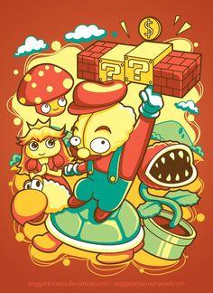 Brain Mario by *anggatantama on deviantART
