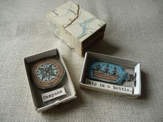 clever double matchbox diorama by Annarack