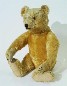 Steiff-Teddy  - Blonder Mohair mit orig. Knopf  um 1940/50