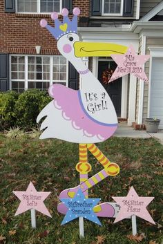 Stork Yard Signs To Announce Baby S Arrival Call