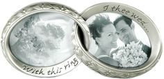 """Double Interlocking Wedding Ring Picture Frame Size: 7.5""""W x 3.5""""H x 1""""D Celebrate your love and your wedding in style with our absolutely fantastic Conjoined Double Wedding Ring Picture Frames! With sturdy metals in matching designs, these rings are perfect for displaying pictures of your and your extra special someone on your big day! Show off fun memories during your reception, ceremony, or even display fond recollections in your own home any day of the year. Show the world how much you…"""