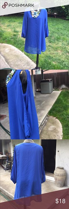 Stunning blue dress The size is missing but it seems it is m Dresses Mini