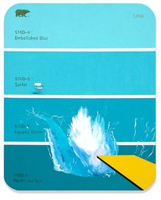 funny and lovely.                                                                           Shawn Huckins - 510D - Hockney Splash  2008  acrylic on canvas mounted on MDF  49 x 40 in / 124.46 x 101.6 cm