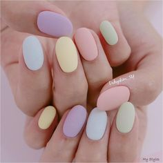 If you like pastel nails and nail designs, if you choose to have beautiful hands, this is your place. Here you can see the best designs and pastel nails to get ideas. Chic Nails, Classy Nails, Stylish Nails, Trendy Nails, Summer Acrylic Nails, Best Acrylic Nails, Acrylic Nails Pastel, Easter Nails, Easter Color Nails