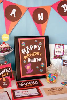 Creative Little Stars — Willy Wonka Party Collection Cocoa Party, Candy Party, Candy Theme, Party Favors, Wonka Chocolate, Chocolate Factory, Kids Party Themes, Theme Parties, Party Rock