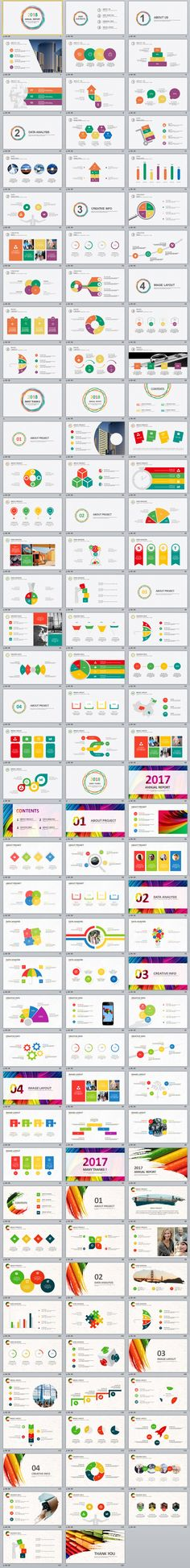 4 in 1 Red business annual report PowerPoint templates on Behance #powerpoint #templates #presentation #animation #backgrounds #pptwork.com #annual #report #business #company #design #creative #slide #infographic #chart #themes #ppt #pptx #slideshow